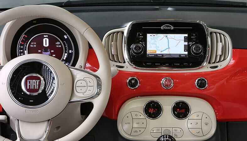 Chłodny Fiat 500 | Stylowy samochód miejski | Komfort jazdy FR73